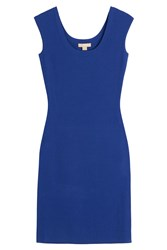 Michael Kors Collection Fitted Dress Blue