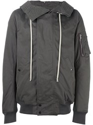 Rick Owens Drkshdw Zip Up Hooded Jacket Grey