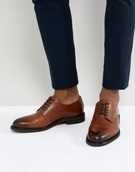 Selected Homme Leather Derby Shoes Brown