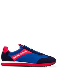 Calvin Klein Jeans Lace Up Running Sneakers Blue