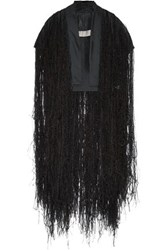 Rick Owens Silk Organza And Feather Vest Black