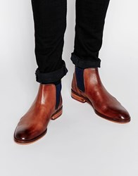Ted Baker Camroon Leather Chelsea Boots Brown