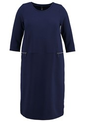 Evans Jersey Dress Navy Dark Blue