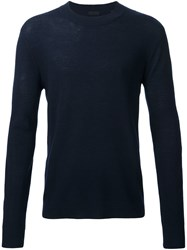 Atm Anthony Thomas Melillo Ribbed Knit Jumper Blue