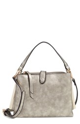 Sondra Roberts Faux Leather Crossbody Handbag Beige Taupe