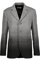 Red Valentino Redvalentino Ombre Wool Blend Jacket Gray