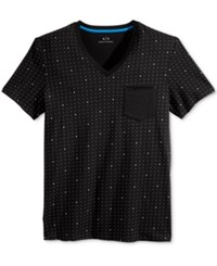 Armani Exchange Men's Dot Print T Shirt Black