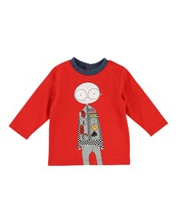 Little Marc Jacobs Mister Essentials Long Sleeve Graphic Tee Size 12 18 Months Red