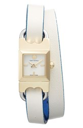 Tory Burch Women's Double T Link Wrap Leather Strap Watch 18Mm