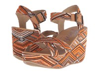 Blowfish Dellis Natural Dakar Woven Desert Sand Dyecut Pu Women's Wedge Shoes Orange