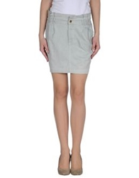 Met And Friends Mini Skirts Light Grey