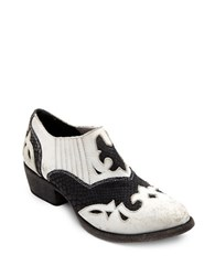 Matisse Steely Leather Booties White Black