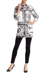 Versus By Versace Long Pattern Button Shirt White