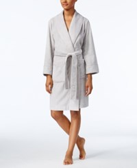 Charter Club Super Soft Shawl Collar Short Robe Only At Macy's Classic Grey