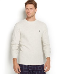 Polo Ralph Lauren Men's Thermal Crew Neck Shirt Oxford Heather