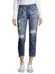 Ag Adriano Goldschmied Distressed Cropped Cotton Denim Pants Sixteenyr