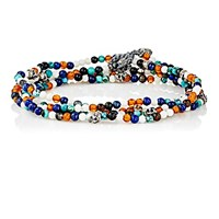 M Cohen M. Men's Beaded Wrap Bracelet White