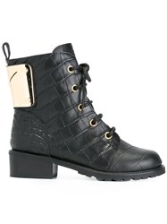 Giuseppe Zanotti Design Lace Up Military Boots Black