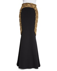 Badgley Mischka Embellished Mermaid Skirt Black
