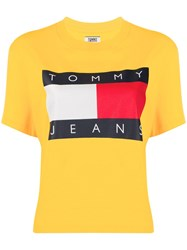 Tommy Jeans Flag Print Cropped T Shirt 60