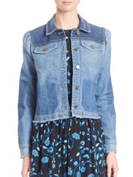 Rebecca Taylor Patchwork Denim Jacket Denim Combo