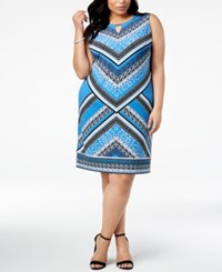 Jm Collection Plus Size Embellished Print Sheath Dress Global Borders