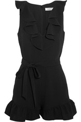 Elizabeth And James Shenzie Ruffled Crepe Playsuit Black
