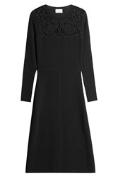 Red Valentino Dress With Embroidery Black