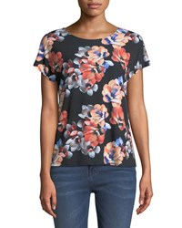 Cynthia Steffe Garden Bloom Short Sleeve Tee Black