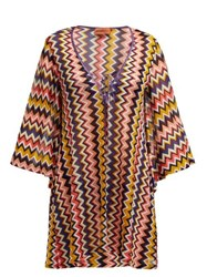 Missoni Mare Zigzag Knit V Neck Kaftan Multi