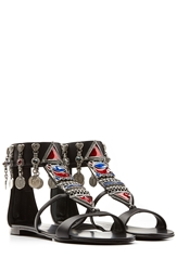 Giuseppe Zanotti Embellished Leather Gladiator Sandals