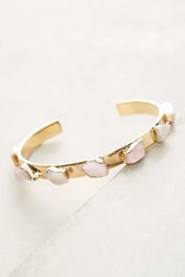 Anthropologie Pink Opal Cuff Bracelet Gold
