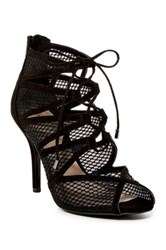 Nine West Adriatic Caged Lace Up Pump Black