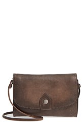 Frye Melissa Leather Crossbody Bag Brown Slate
