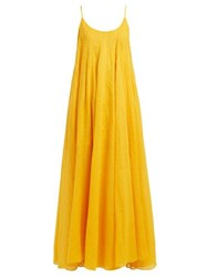 Three Graces London Mabelle Trapeze Maxi Dress Yellow