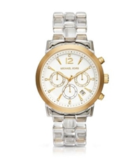 Michael Kors Audrina Clear Acetate Watch Gold