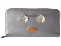 Charlotte Olympia Zip Wallet Silver