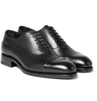 Ermenegildo Zegna Belgravia Leather Oxford Shoes Black