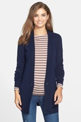 Sweet Romeo Two Pocket V Neck Cardigan Blue