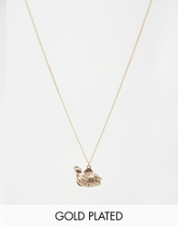 And Mary Gold Plated Necklace With Lucky Fish Charm