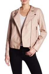 Bagatelle Asymmetrical Washed Jacket Pink