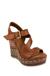 Rampage Helman Platform Wedge Sandal Brown