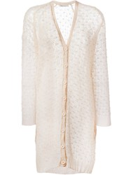 Mes Demoiselles Fine Knit Cardigan Pink And Purple