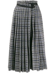 Golden Goose Tweed High Rise Pleated Skirt 60