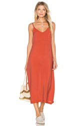 Lacausa Alma Slip Dress Burnt Orange