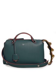 Fendi By The Way Wave Tail Leather Cross Body Bag Dark Green