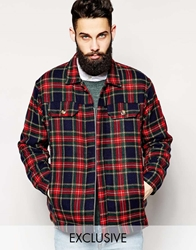 Reclaimed Vintage Checked Jacket Red
