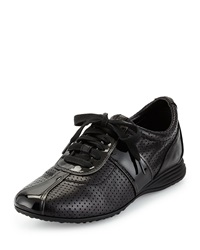 Cole Haan Bria Perforated Leather Sneaker Black