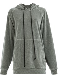 Song For The Mute Loose Fitting Hoodie Grey