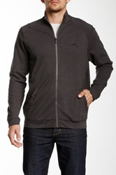 Tommy Bahama Palisuede Full Zip Sweater Gray